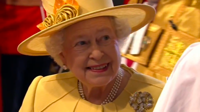 Queen Elizabeth II meeting the clergy at Westminster Abbey. YouTube 2011.