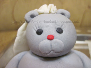 Teddy bear girl cake topper