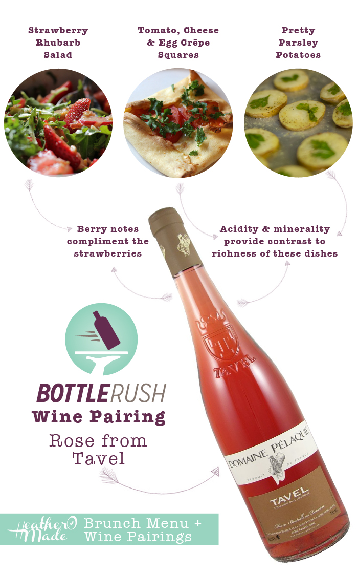 brunch menu and wine pairings for a summer brunch. heatheromade. bottle rush.