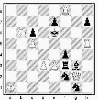Problema de mate en 2 compuesto por Johan Christoffel Van Gool (T.T. Buletin Problemistic, 1984)