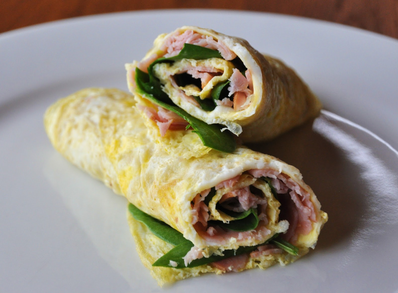 LA GRAHAM: SKINNY HAM AND SPINACH OMELET- CLEAN EATING