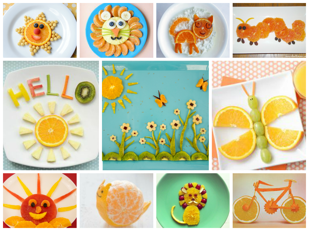 картинки рисунки из апельсинов и мандаринов в тарелке