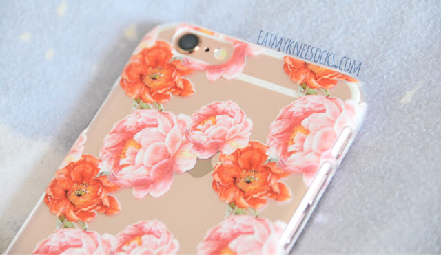 The third that I got from Clash Cases was a floral case, featuring red and pink peony flowers on a clear background.