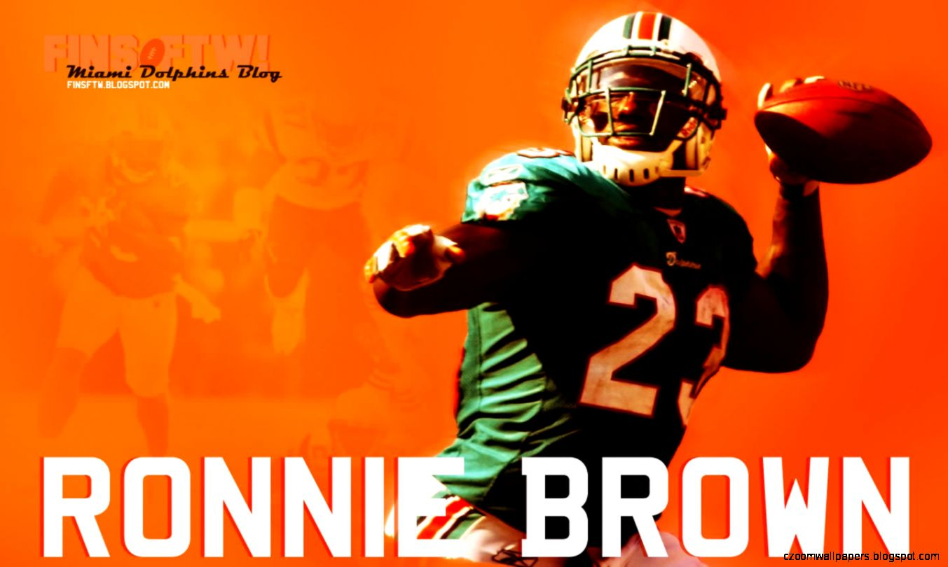 NFL Wallpaper Zone Ronnie Brown Wallpaper   Miami Dolphins