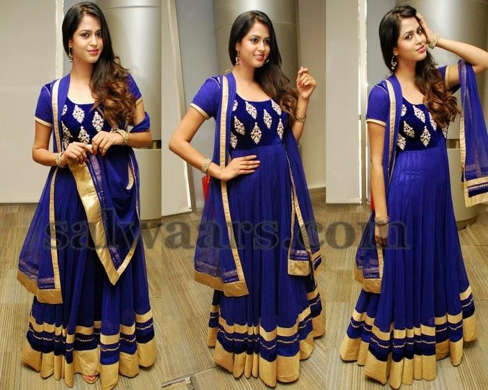Pooja Kiran Navy Blue Salwar