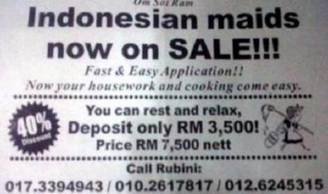Ini Dia Iklan TKI Obral di Malaysia