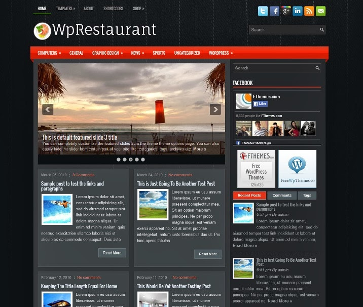 WpRestaurant - Free WordPress Theme