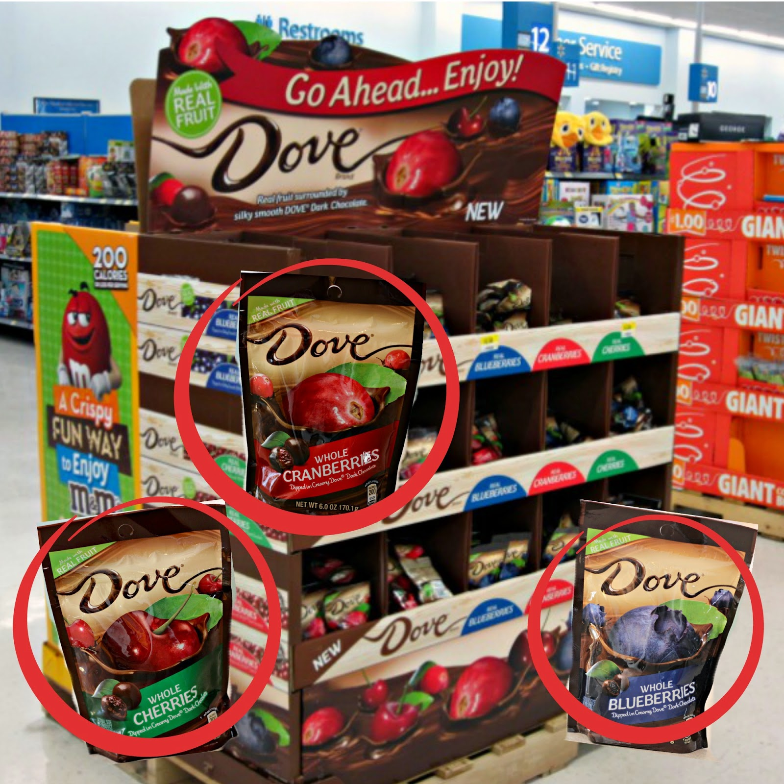 Wlamart instore image for DOVE fruit