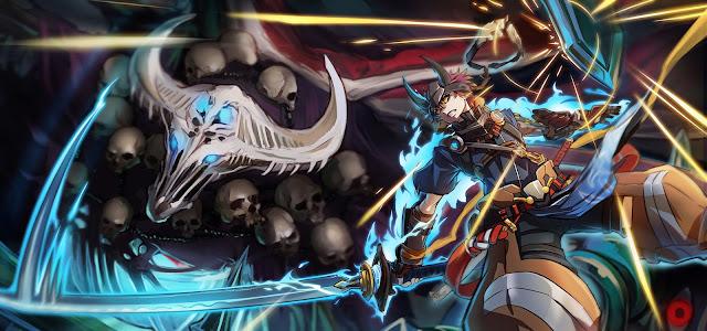 Fighter Sword Beast Monster horns pixiv fantasia skull weapon hd wallpaper desktop pc wallpaper a74