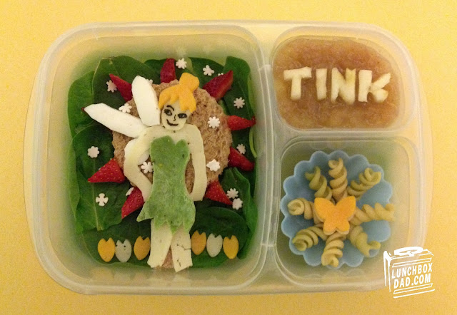 Tinkerbell kids bento lunch in easylunchboxes.com