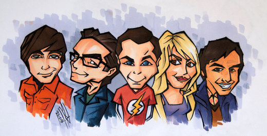 The Big Bang Theory por DarkDorArt