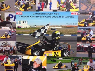 Back in 2005, pre-teen Cameron Hayley competed in both Calgary and Edmonton, Alberta karting seasons; winning both Jr. 1 championships and becoming the first Alberta Jr. 1 champion.