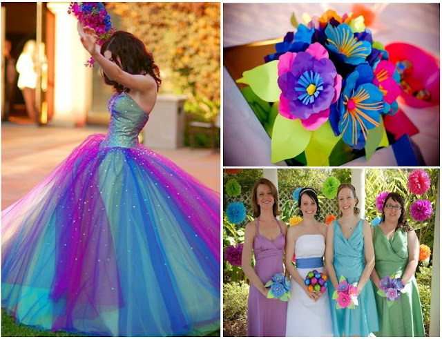Multi Colored Wedding Theme