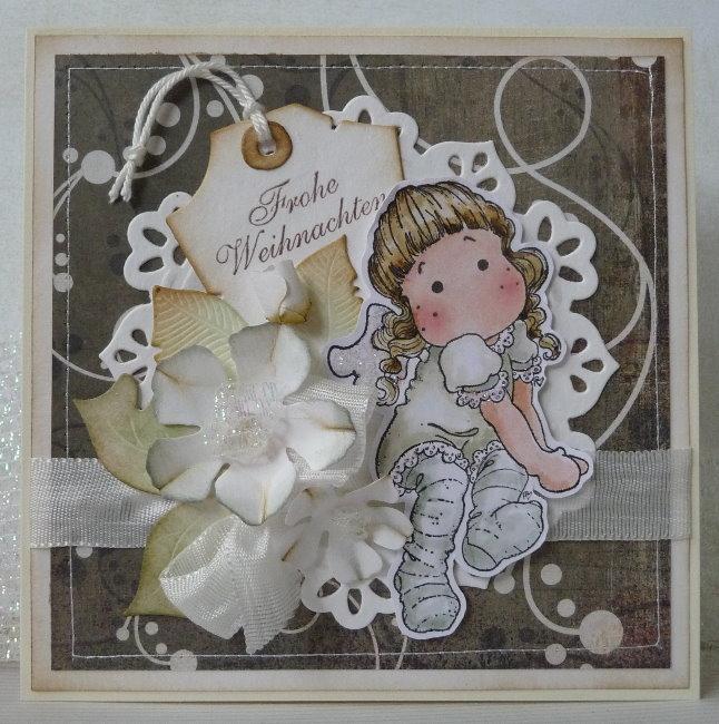 Irenes hobbywelt sitting angel tilda von magnolia - Niedliche weihnachtskarten ...
