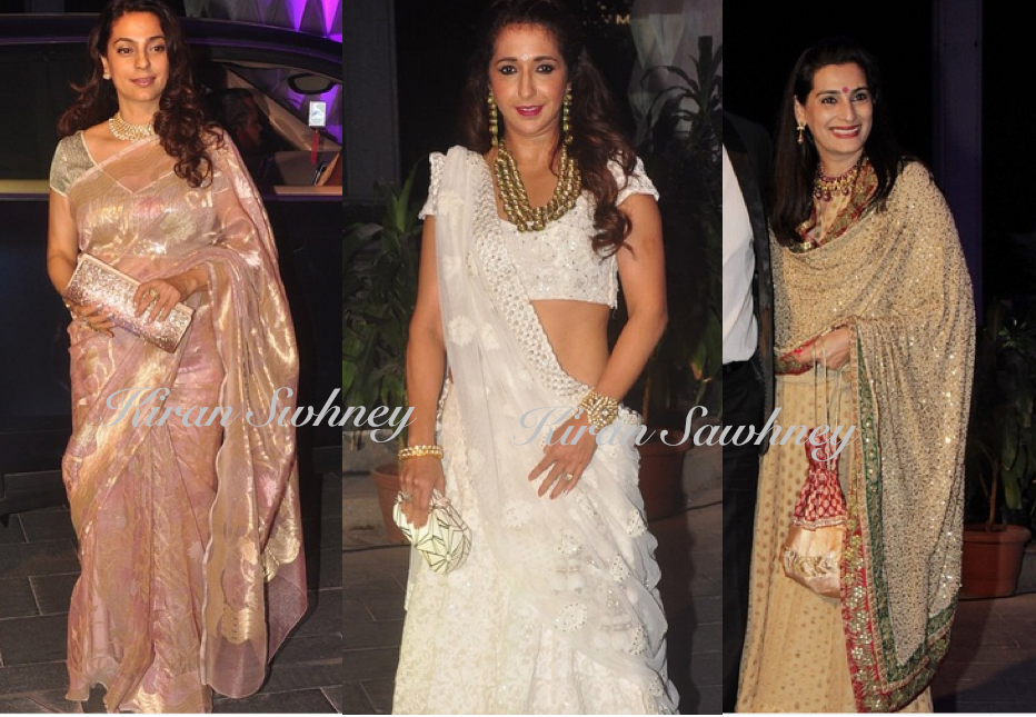 Celebrities at Smita Thackeray's son's wedding reception
