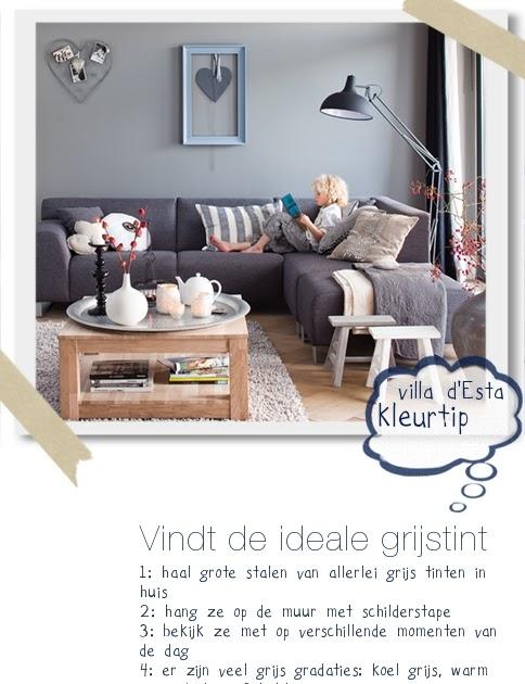 Een grijze muur saai nee hoor villa d 39 esta interieur en wonen - Kleur grijze leisteen ...