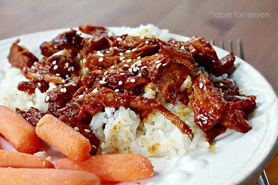 Crock Pot} Asian Pork Table for Seven