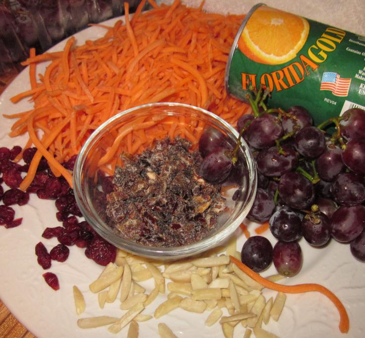 ... Chicks Health Club™: Carrot, Grape, Date, Cranberry & Almond Salad