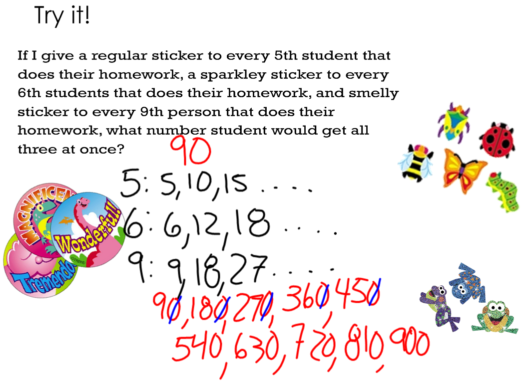Worksheet Lcm Word Problems miss kahrimaniss blog lcm day two we played with again today