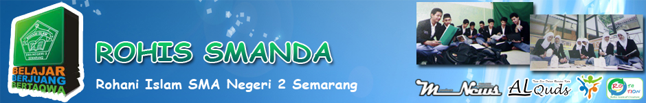 Website Resmi Rohani Islam SMA Negeri 2 Semarang, berisi info kegiatan dan artikel-artikel menarik lainnya