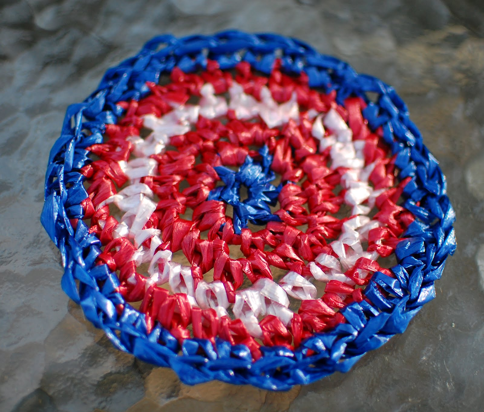 Crocheting With Plarn : Plarn Placemats and Coasters Crochet Pattern - Petals to Picots