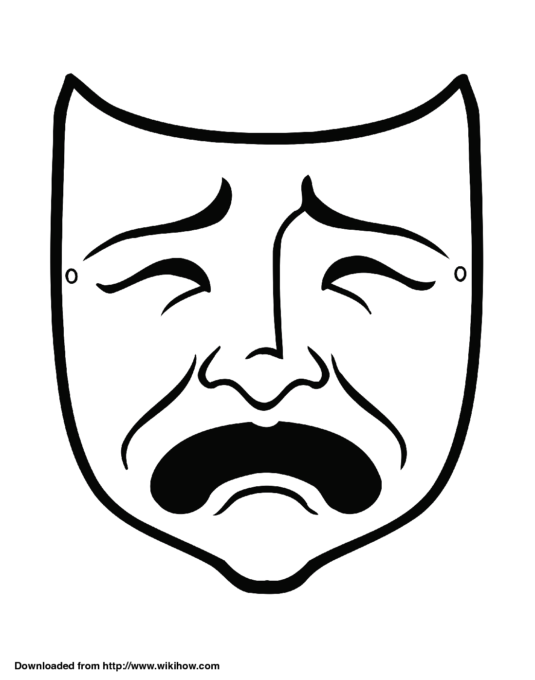 ancient greek mask template greek theatre masks templates the image