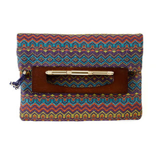 Duro Olowu jcpenney collabo - Iris Wood Frame Clutch - iloveankara.blogspot.co.uk