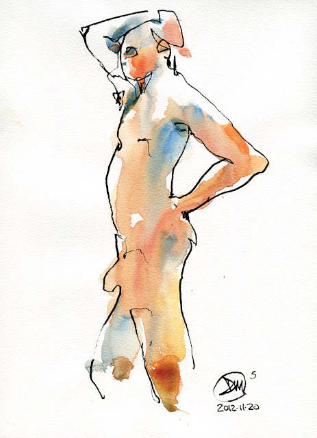 5 minute pen and wash 20121120 by David Meldrum