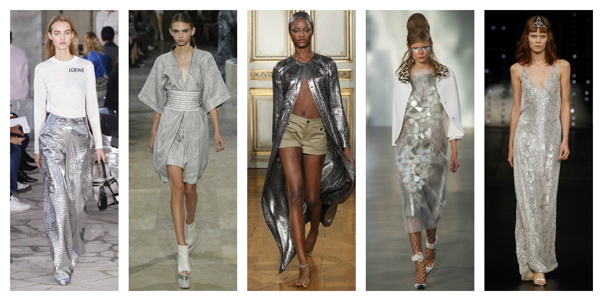 paris fashion week ss16 silver grey trend report pfw