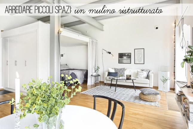 Arredare piccoli spazi ristrutturare un mulino home for Arredare piccoli spazi