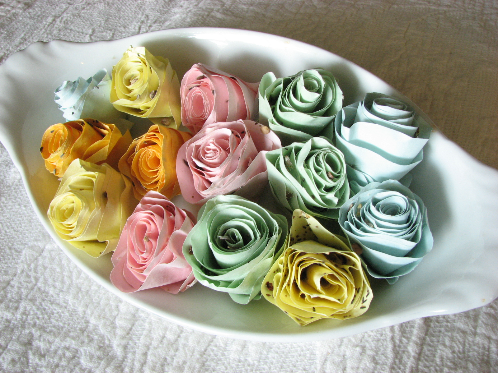 Our Nesting Ground Seed Paper Flowers