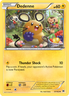 Dedenne BREAKthrough Pokemon Card