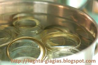 Τα φαγητά της γιαγιάς - Αποστείρωση βάζων