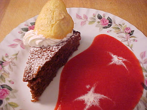 Tarte/gâteau chocolatée aux amandes