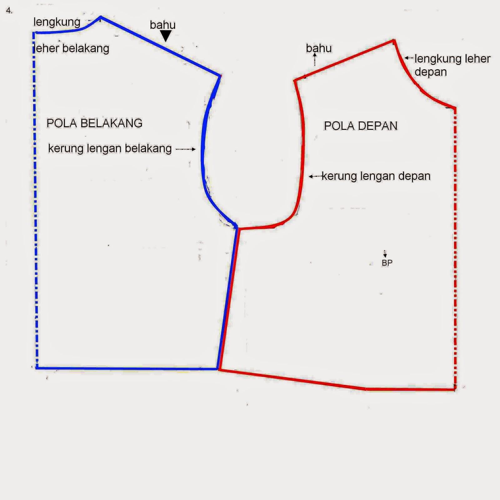 Pola Dasar Blus   Baju Atasan Dewasa - Danitailor 38dcb48ab7