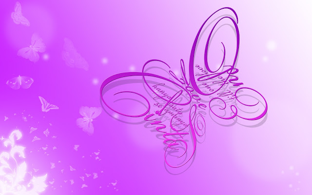 Purple Butterfly Typography [HD Wallpaper]
