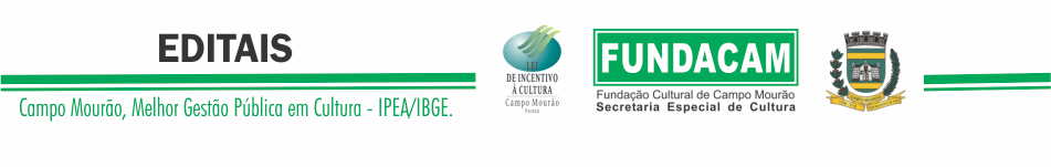 Fundação Cultural de Campo Mourão/ Edital