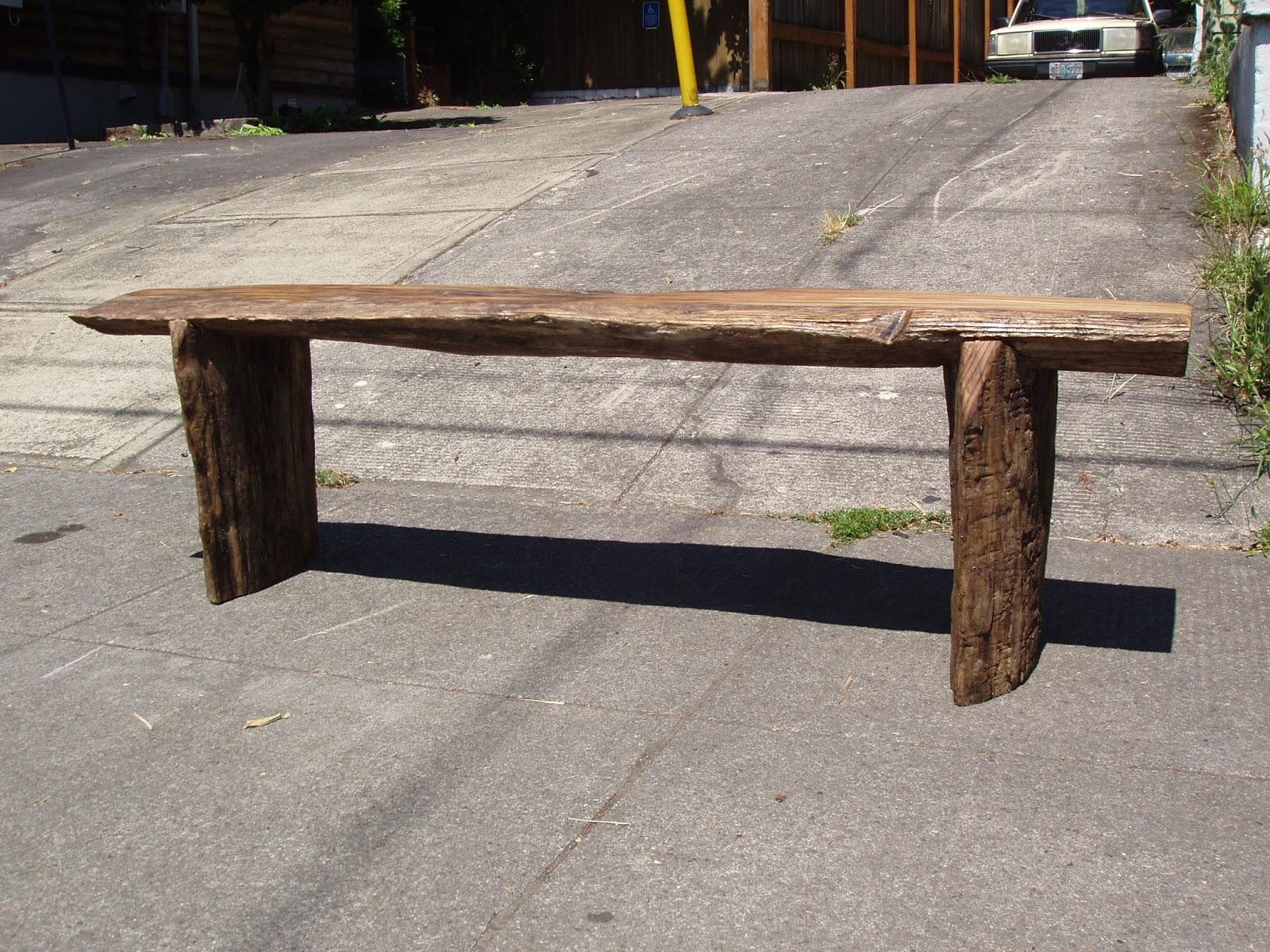 Driftedge Woodworking Driftwood Red Oak Bench
