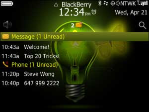 Tema BlackBerry 9220 - Butterfly Neon