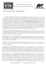 Documento entregado a Inmaculada Nieto sobre la problemática de las encomiendas de gestión