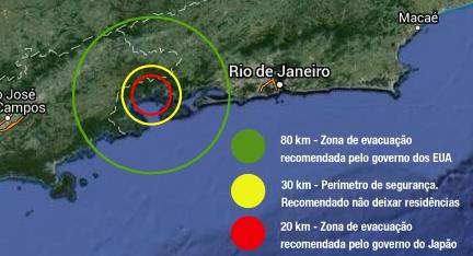 evacuação em caso de acidente nas localizações das centrais nucleares no brasil