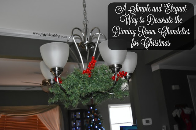 decorating a dinning room chandelier for Christmas, simple and elegant way to decorate a chandelier for Christmas, simple Christmas decorating,