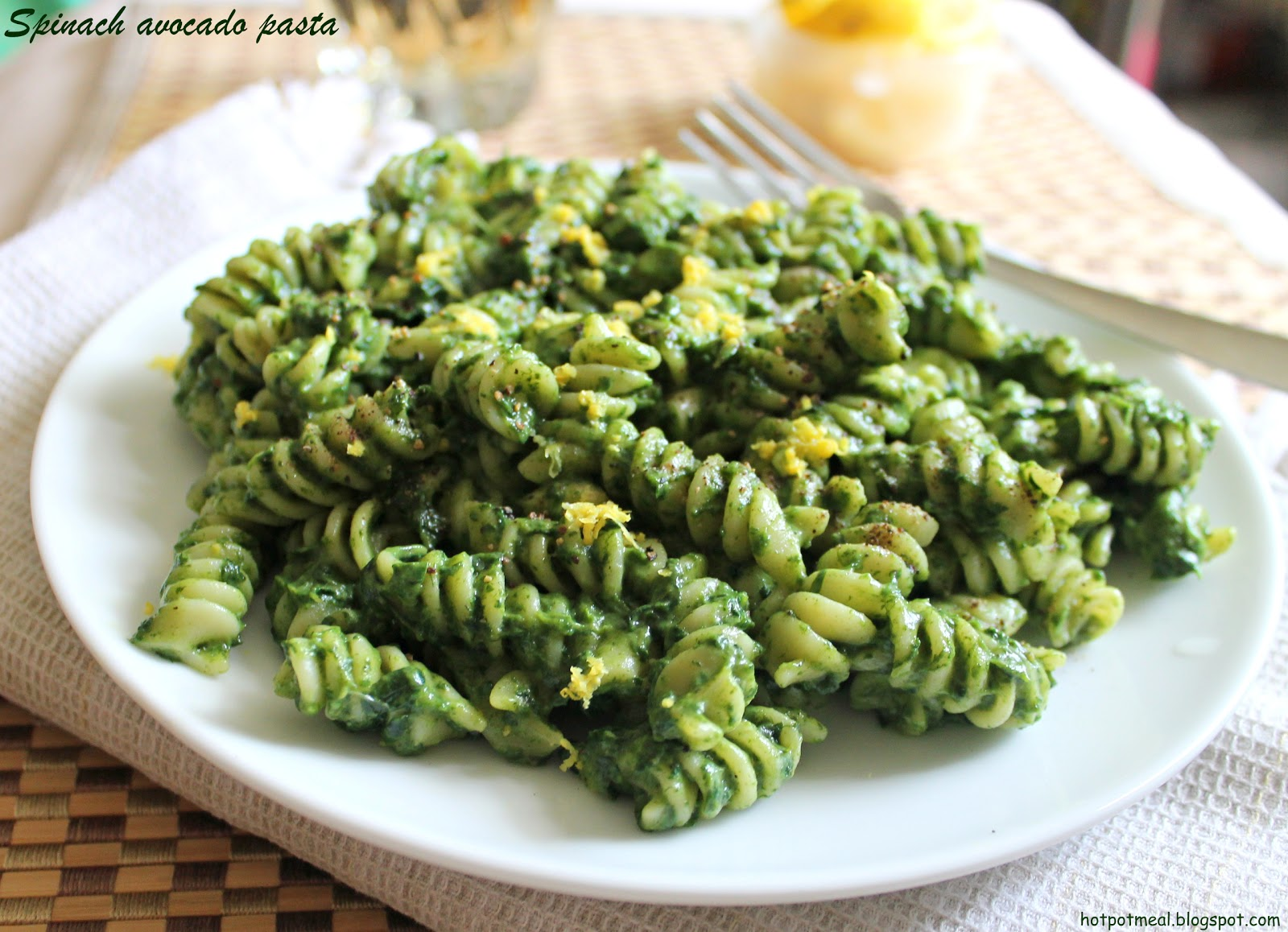 Healthy pasta with spinach recipes