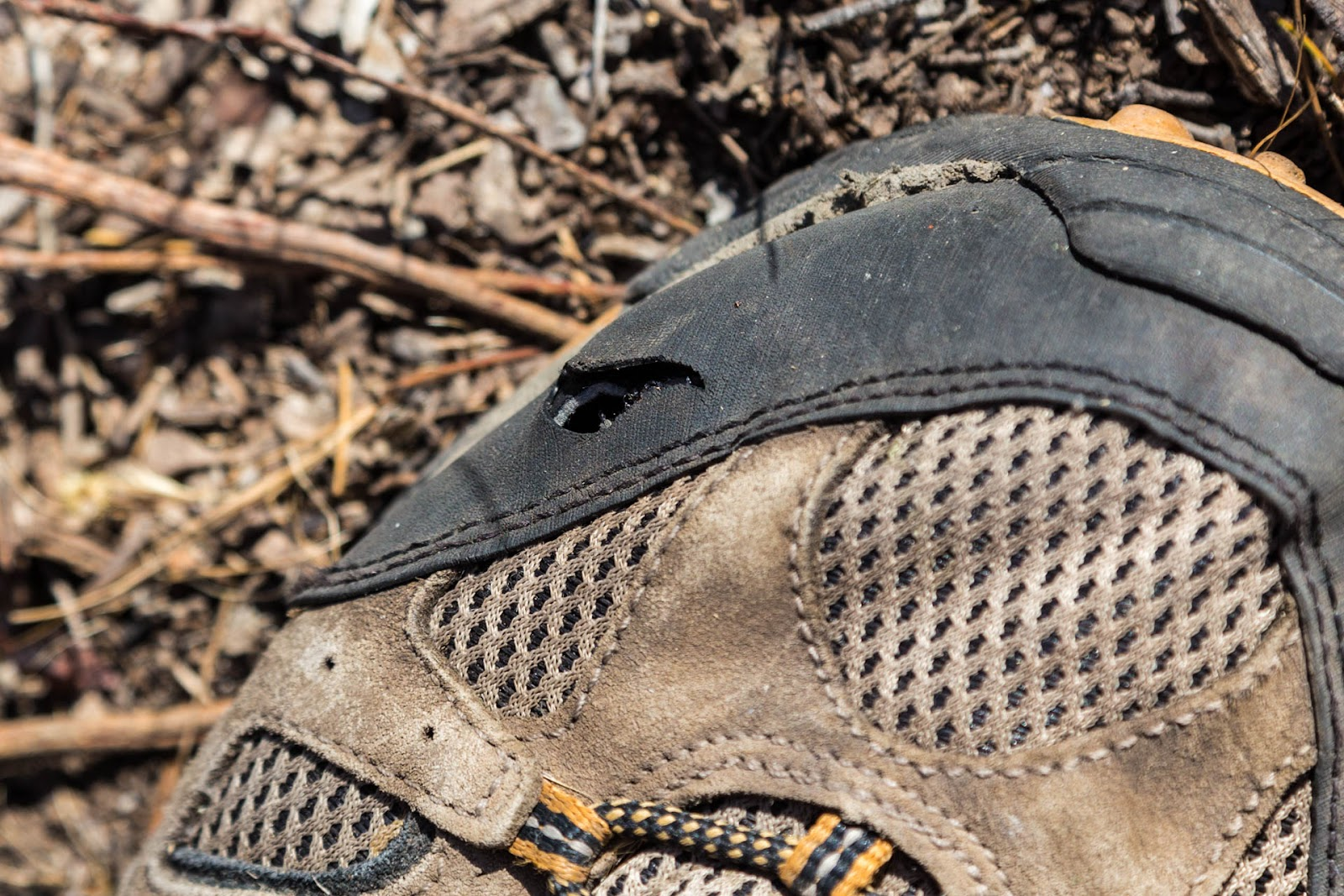 hole in merrell moab ventilator boot