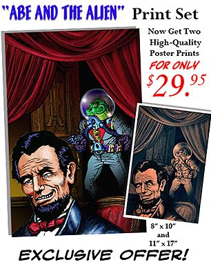 """ABE AND THE ALIEN"" POSTER PRINTS NOW ON SALE!"