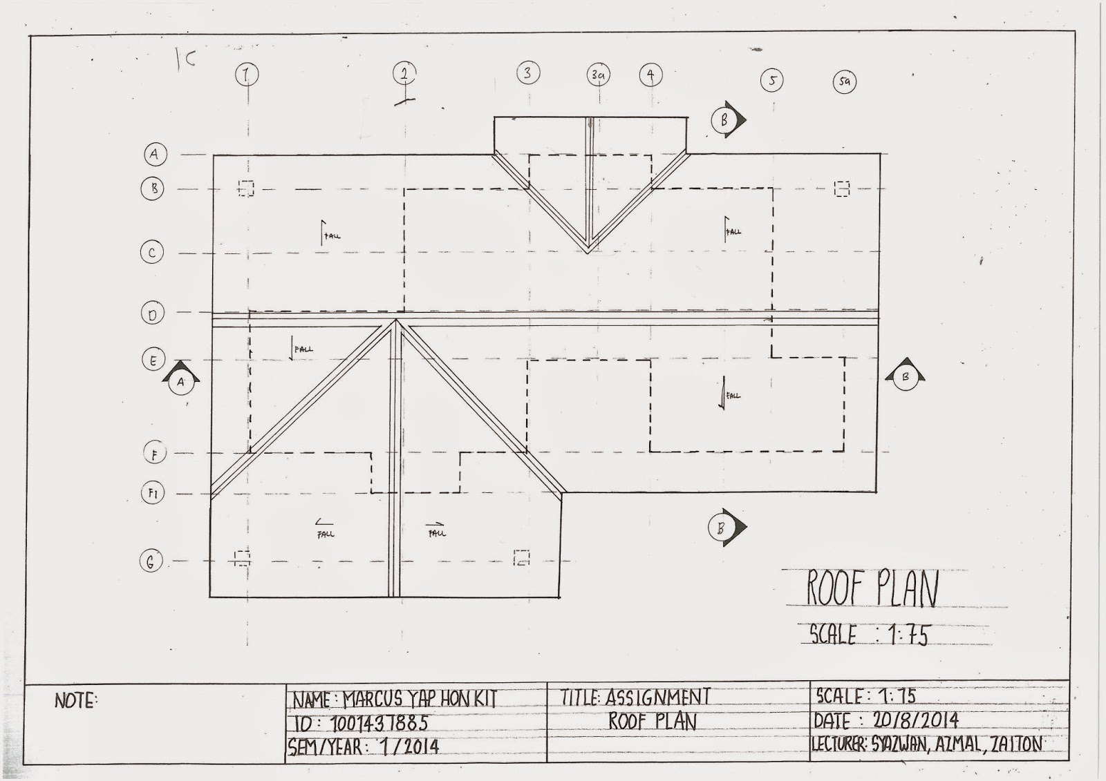 roof drawing drawings from fisher roger c 1992 visual