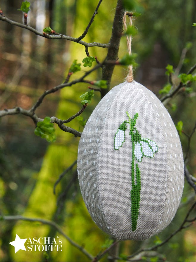 Easter egg hand embroidery