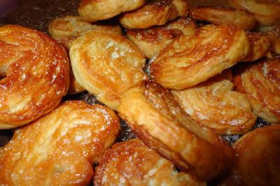 Deliciosas palmeritas hechas de hojaldre