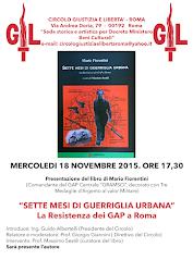 Mercoledì 18 novembre 2015, ore 17,30, Circolo Giustizia e Libertà, Roma, Via Andrea Doria 79.