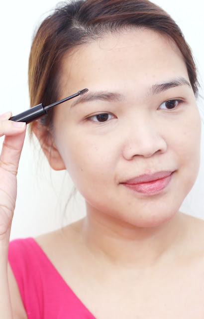 a photo of a Valentines Day Makeup tutorial using Benefit Gimme Brow